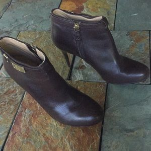 Authentic Coach Bootie Heels in brown size 7.5